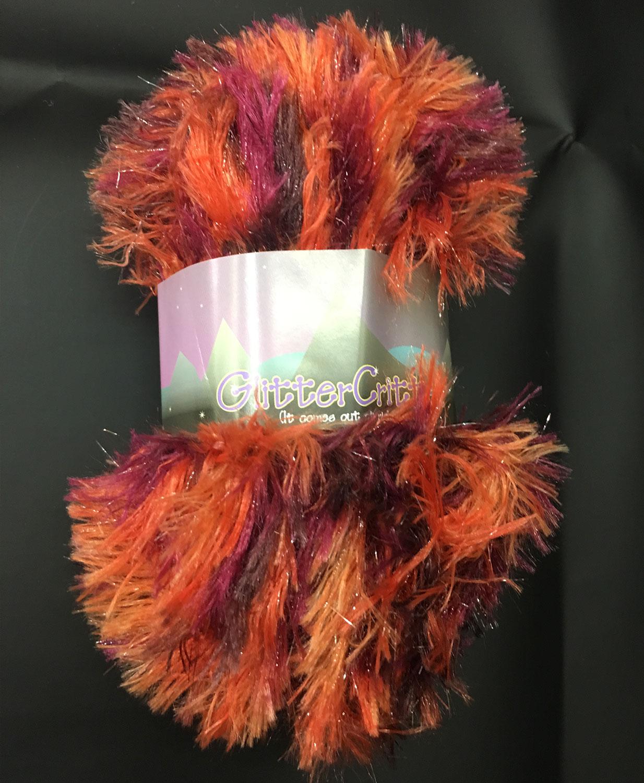 Glitter Critter Eyelash Yarn - Flame C4